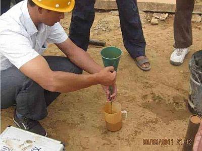 膨润土配置打桩泥浆确定比例